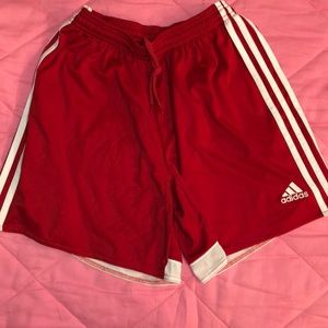 Women's size S red adidas Climacool soccer shorts